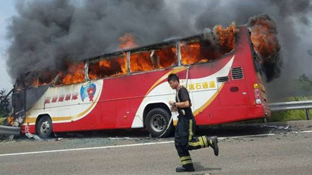 26 people, including the driver, were killed.