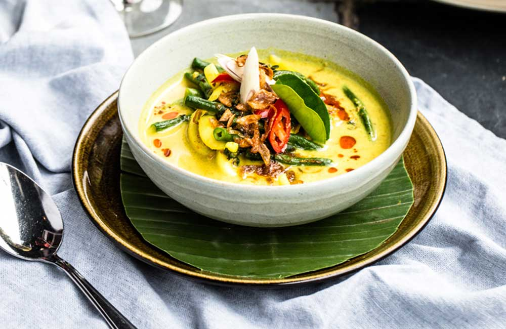 Bali Kenus yellow curry soup, courtesy of Balique, Jimbaran and Flavours of Bali (Smudge Publishing)