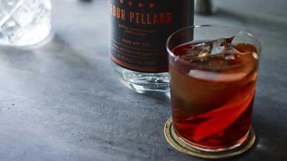 Four Pillas gin negroni
