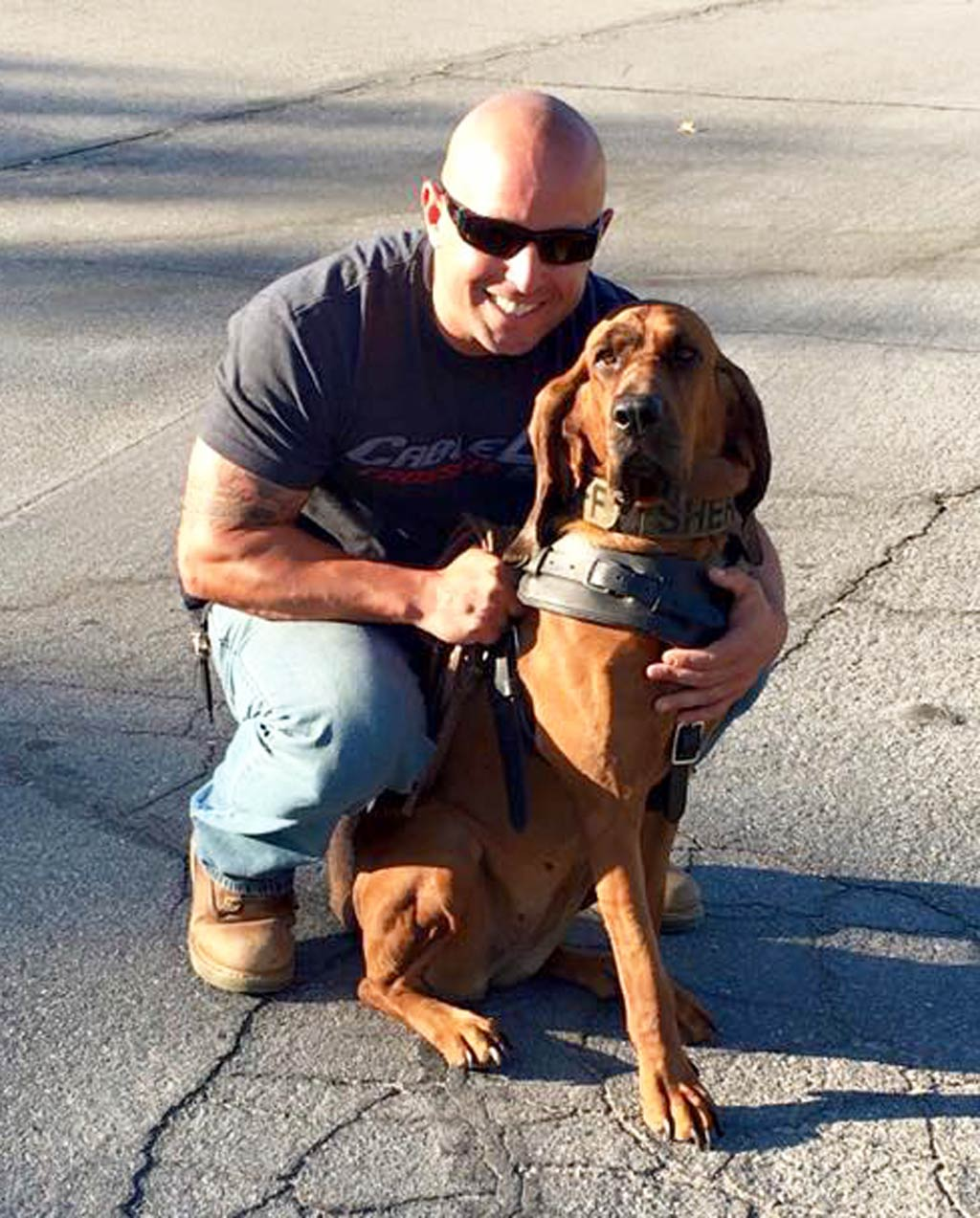 California police dog celebrated for helping track down kidnapped girl