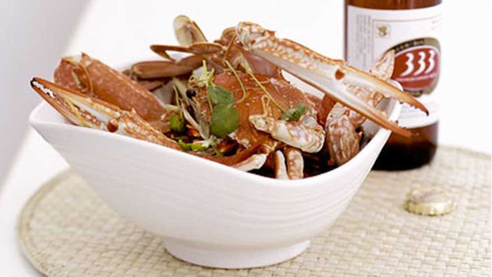 Ginger and beer-steamed crab