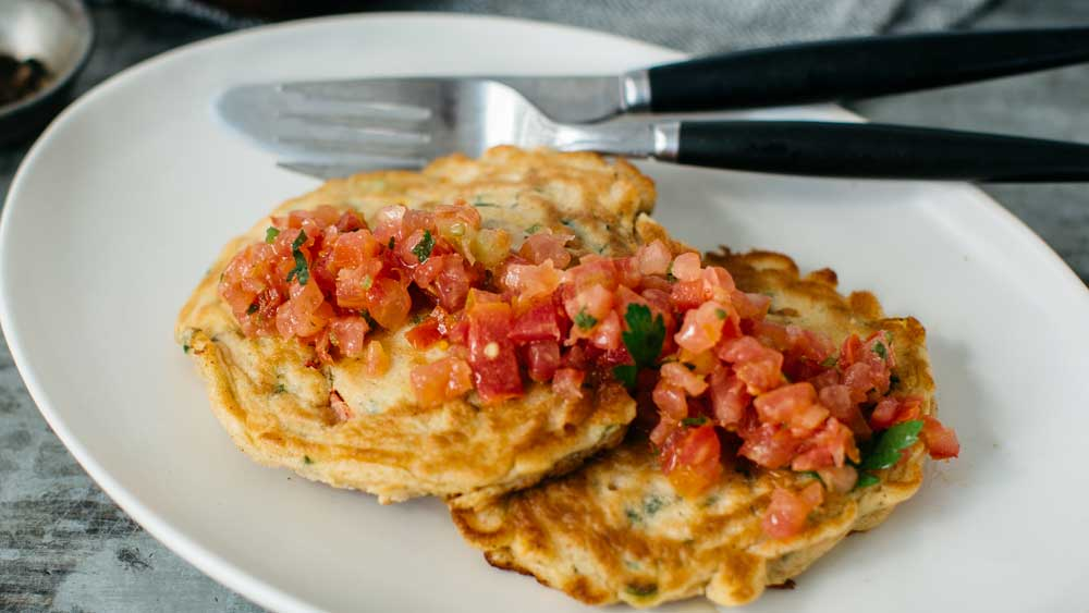Corn and capsicum fritters courtesy of Hit 100