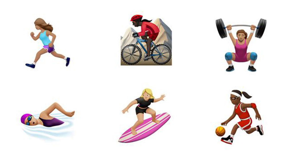Emojis depicting women taking part in various sports have also been added to the smartphone keyboard. (Unicode)