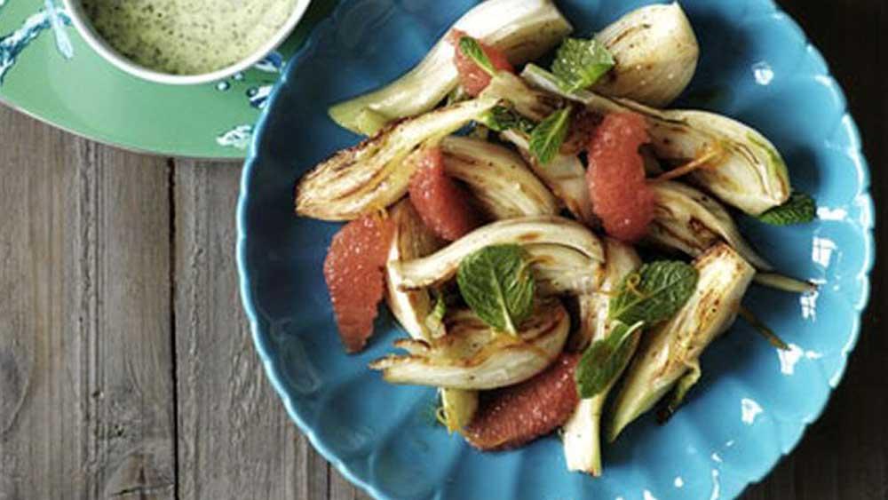Grapefruit and roasted fennel salad