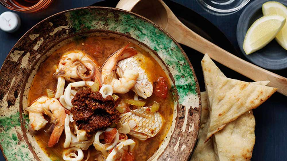 Moroccan seafood soup