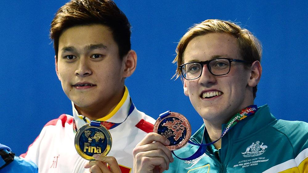 Sun Yang and Mack Horton. (AFP)