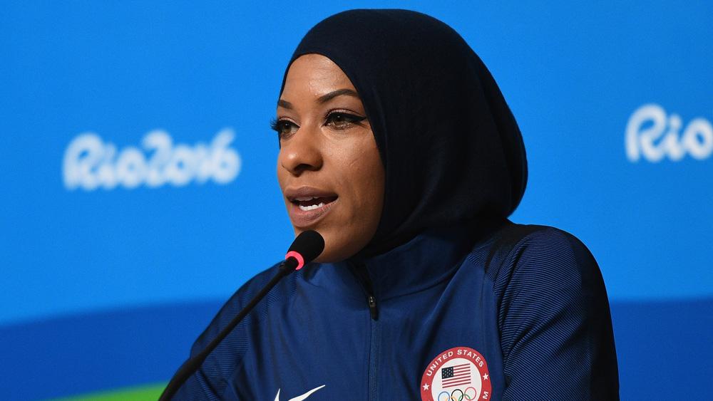US fencer Ibtihaj Muhammad. (Getty)