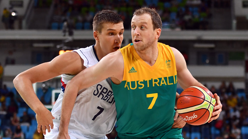The Boomers have surged past Serbia. (AFP)