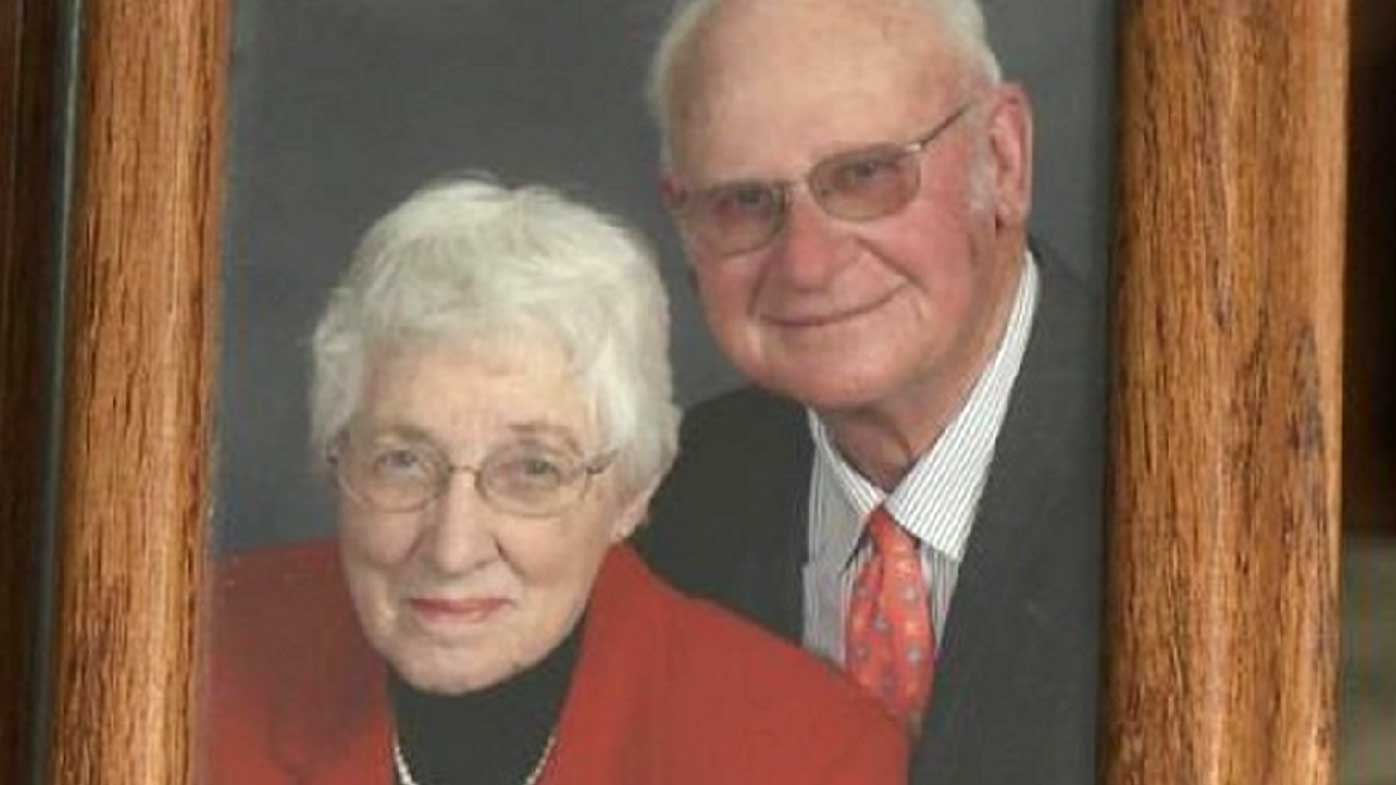 """A couple married for more than six decades have died side-by-side just moments after one another in a US nursing home.<br /> Henry and Jeanette De Lange passed away on July 31 in a South Dakota nursing home, just 20 minutes apart, in what one of their sons has described as a """"beautiful act of God"""".<br /> """"You don't pray for it because it seems mean but you couldn't ask for anything more beautiful,"""" Lee De Lange told CNN.<br /> Jeanette De Lange, 87, who was suffering with Alzheimer's, died first at 5:10pm local time.<br /> The family told her 86-year-old husband that """"mom's gone to heaven,"""" and he could join her if he wanted."""