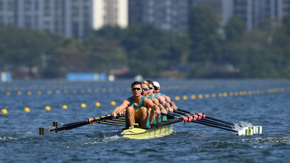 The Aussie men's quad sculls crew has a shot at gold in Rio. (Getty)