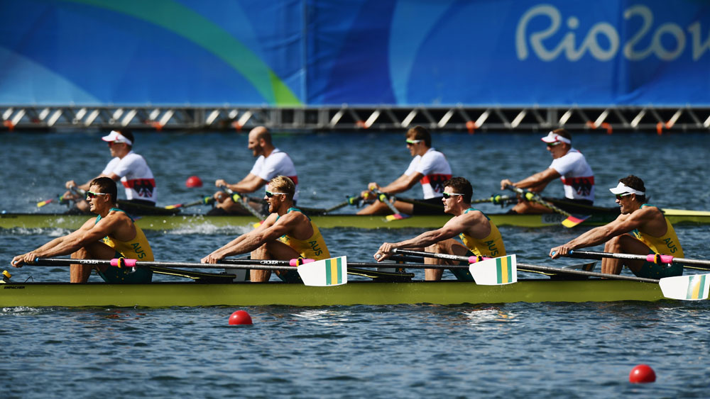 Australian men's quad sculls rowing crew win silver medal in Rio