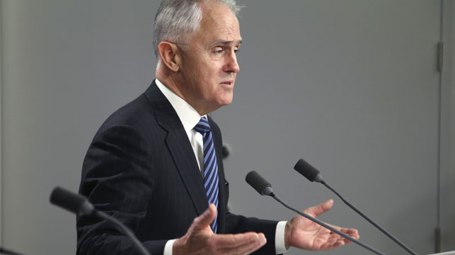 Malcolm Turnbull in Canberra today. (AAP)
