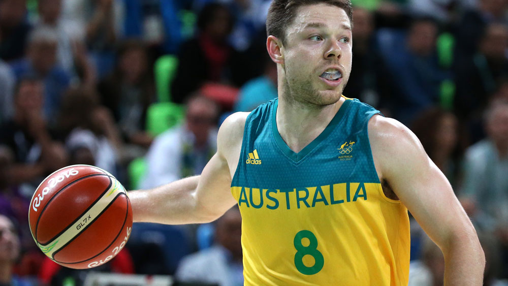 Matthew Dellavedoova and the Boomers were too good for China. (Getty Images)