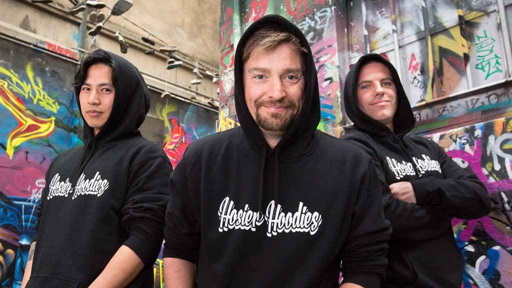 Melbourne man launches street art hoodie scheme to help the homeless