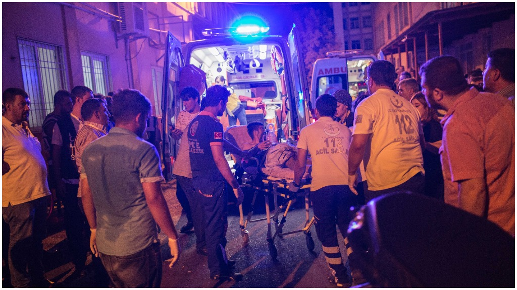 At least 30 people have died after a suspected terror bombing attack in Turkey. (AFP)