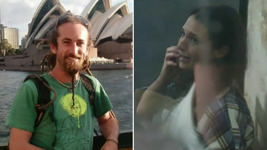 "David Taylor, (left) the British partner of Sara Connor (right) claims she was attacked by a ""bad cop""."