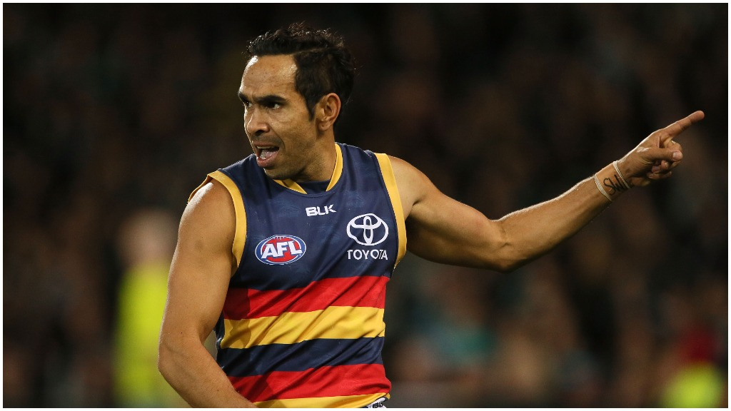 Port Adelaide player Eddie Betts was targeted during a 'racially motivated' incident on Saturday. (Getty)