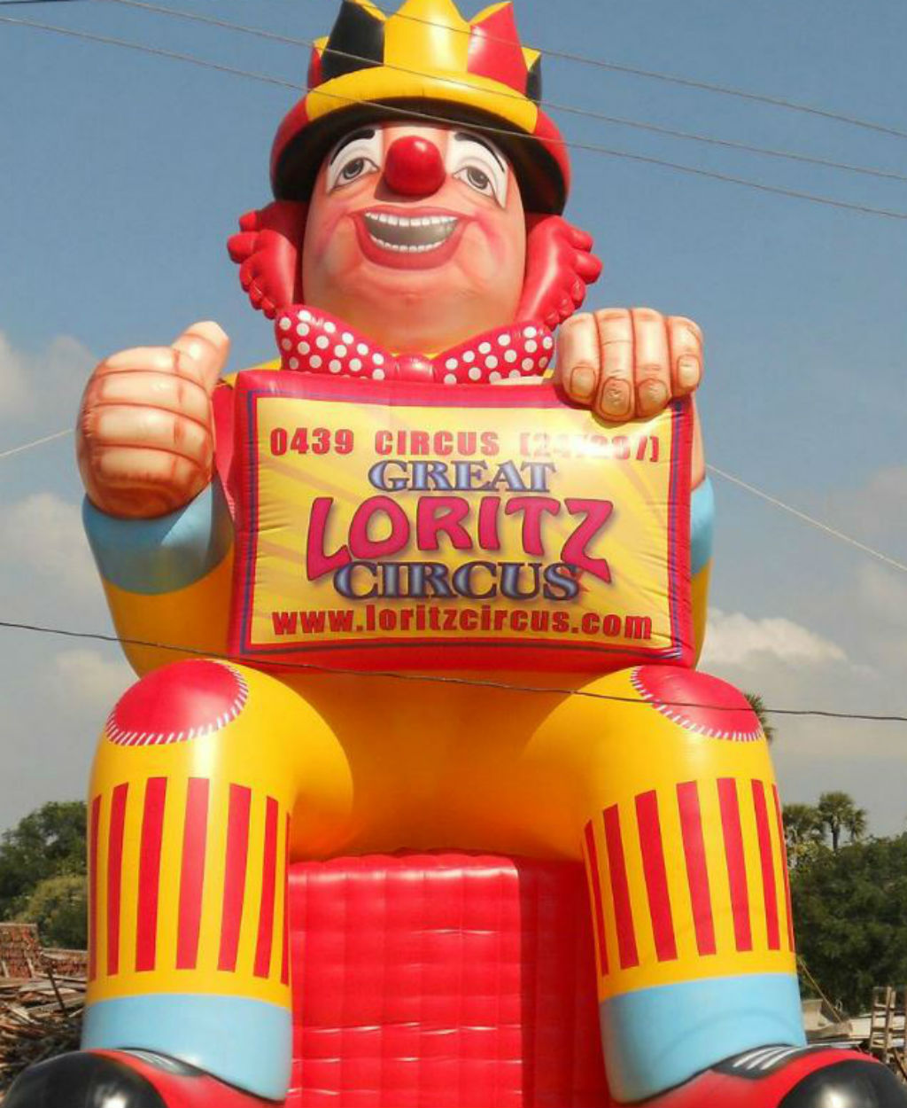 The clown was similar to this, however police say it was smaller and not inflated at the time. (SA police)