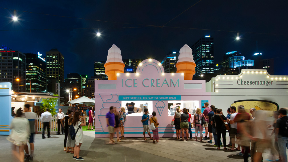 The Urban Dairy, Melbourne VIC - nominated for best temporary design