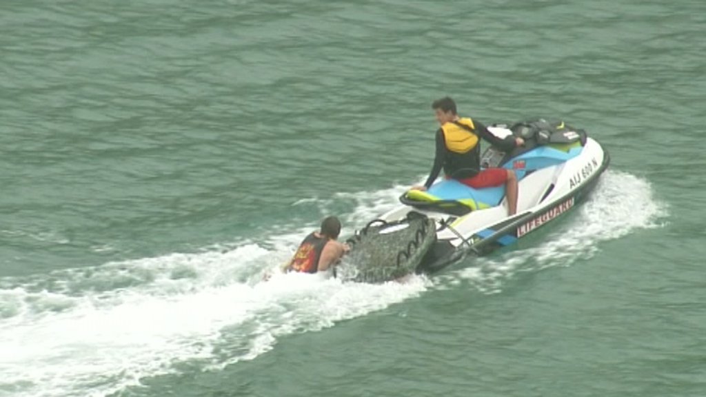 A jetski was called in to assist. (9NEWS)