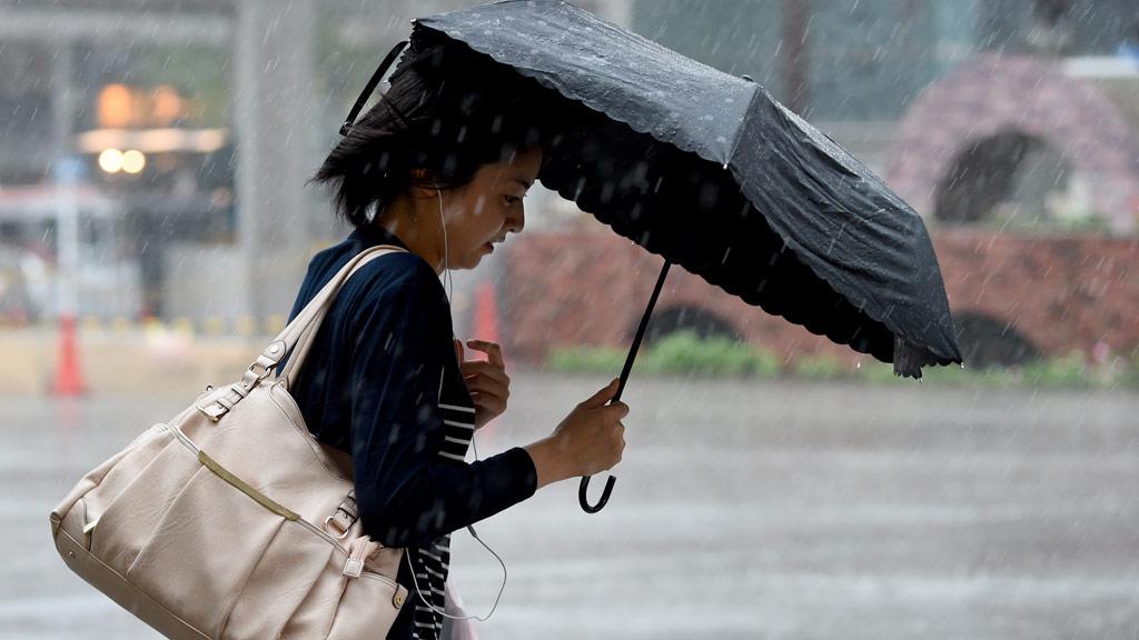 Typhoon Mindulle made landfall at 13:30 AEST. (AFP)