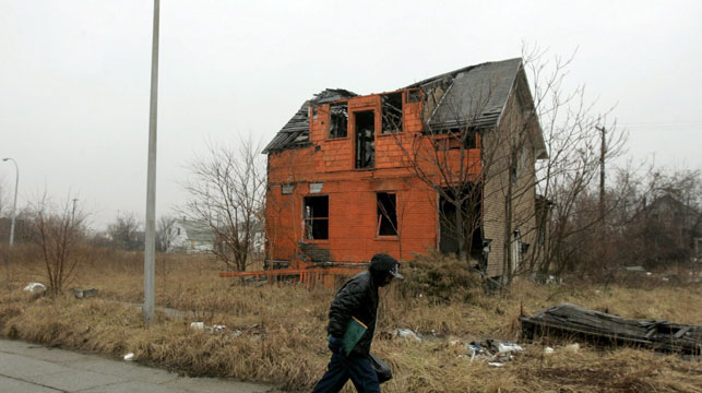 The loss of industry has seen entire neighbourhoods virtually abandoned. (AP)