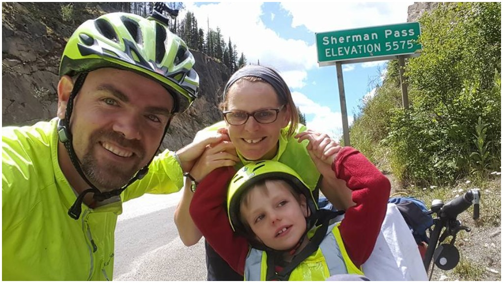 Australian parents cycling 5000km across America with autistic son