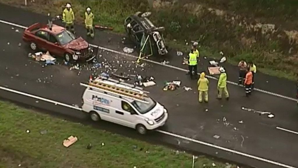 Three-car crash causes delays on Bruce Highway near Caboolture