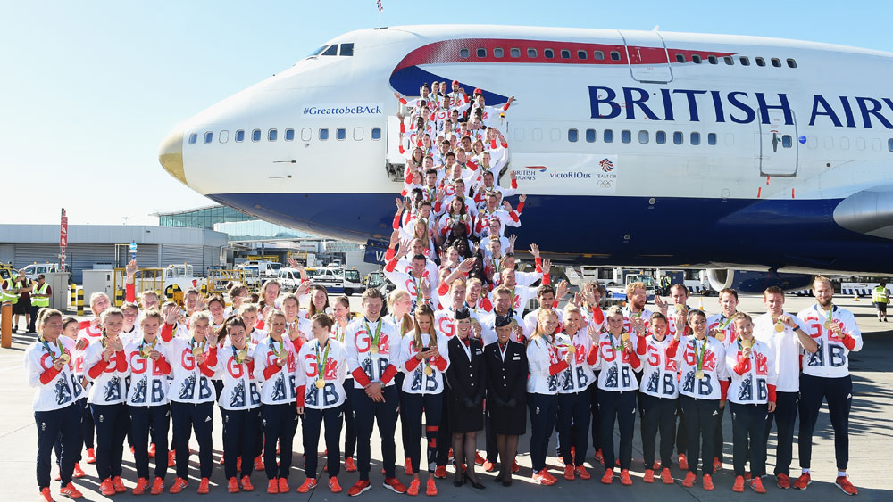 Team GB return home with  record medal haul. (Getty)