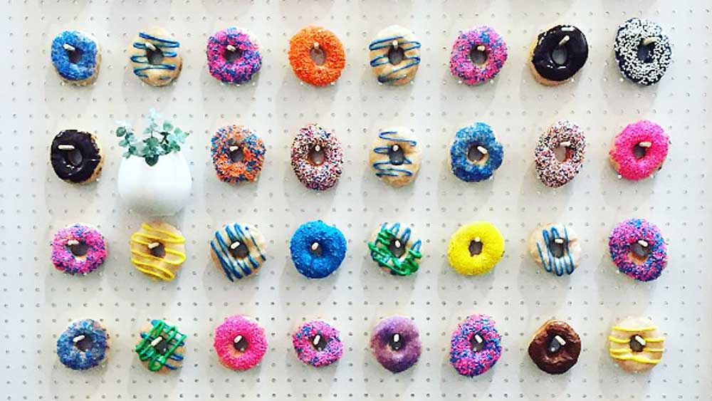 Donut wall. Image: Instagram/@kayleekerr_