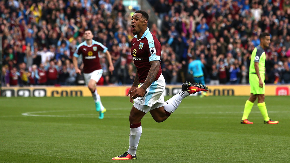 Burnley striker Andre Gray.(Getty)