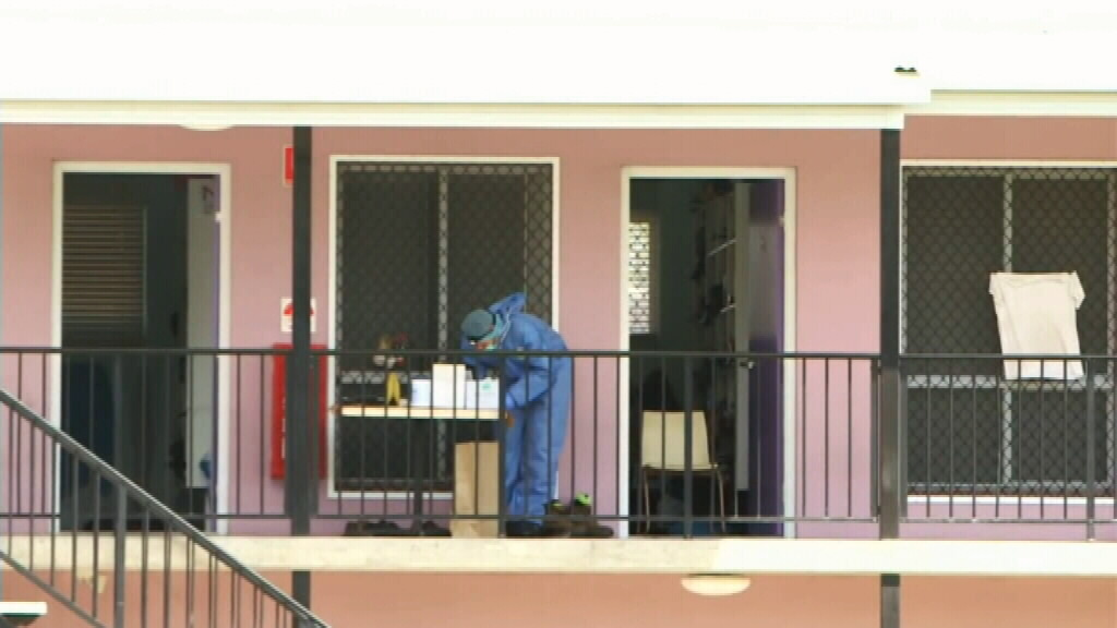 Forensic police at the scene. (9NEWS)