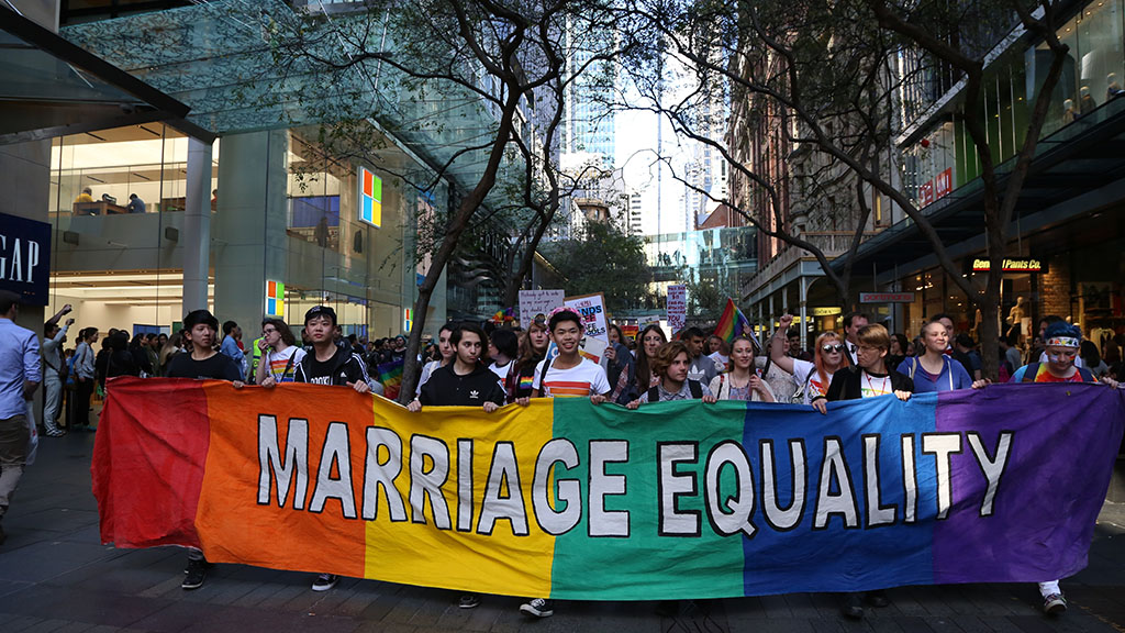 Poll shows Australian support for marriage equality has increased since federal election