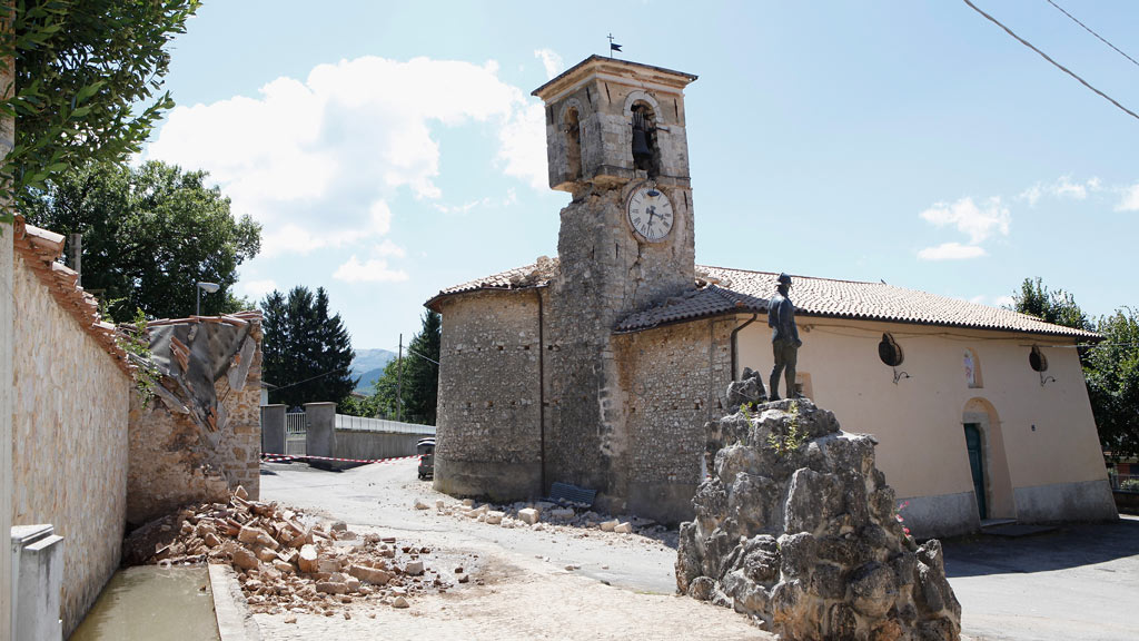 Amatrice is one of the worst affected areas from the quake. (AFP)