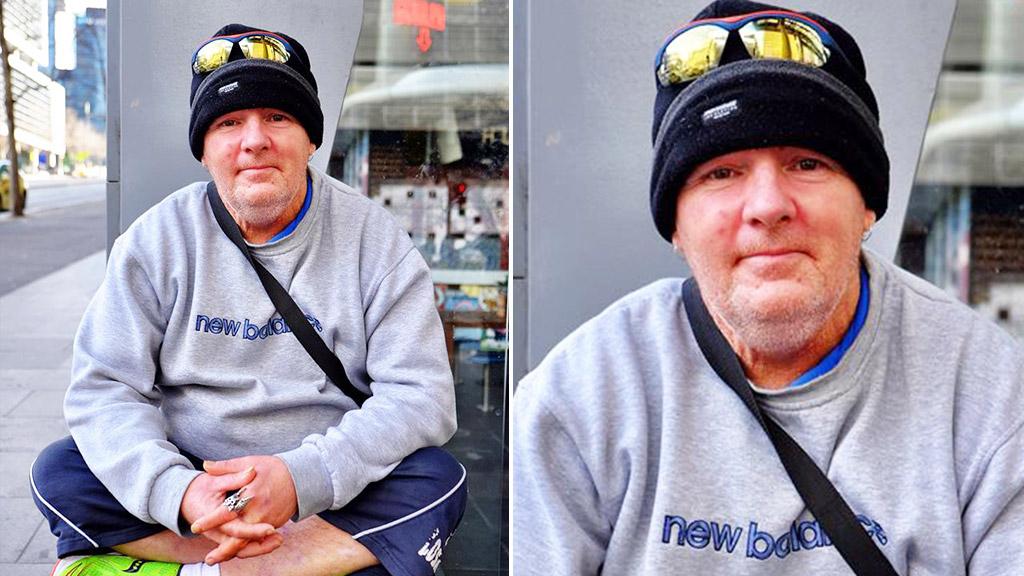 Melbourne homeless man who comforted bullied teen now inspired to help others