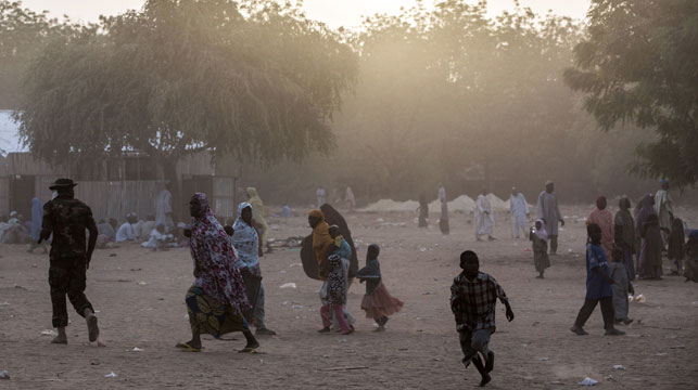 Displaced residents are fleeing Bama, Nigeria. (AFP)