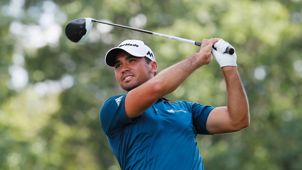 Jason Day remains in contention to defend his title at the Barclays. (Getty)