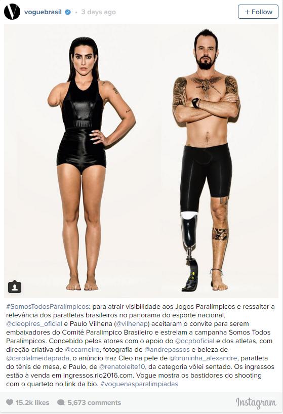 The original post made by Vogue Brazil. (Instagram)