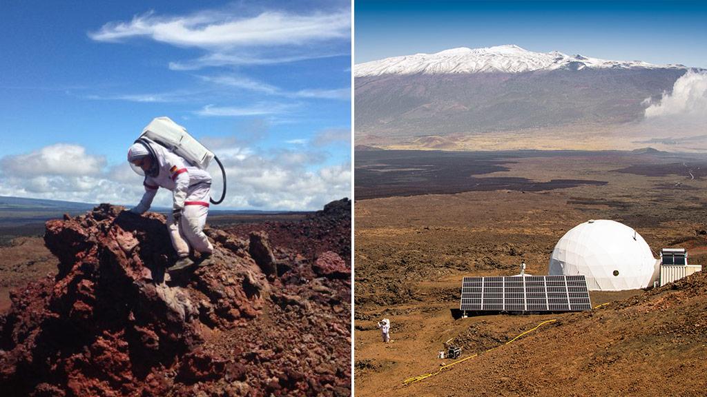 A participant in the HI-SEAS program; the habitat on Mauna Loa island, Hawaii. (HI-SEAS/Carmel Johnston/AFP)