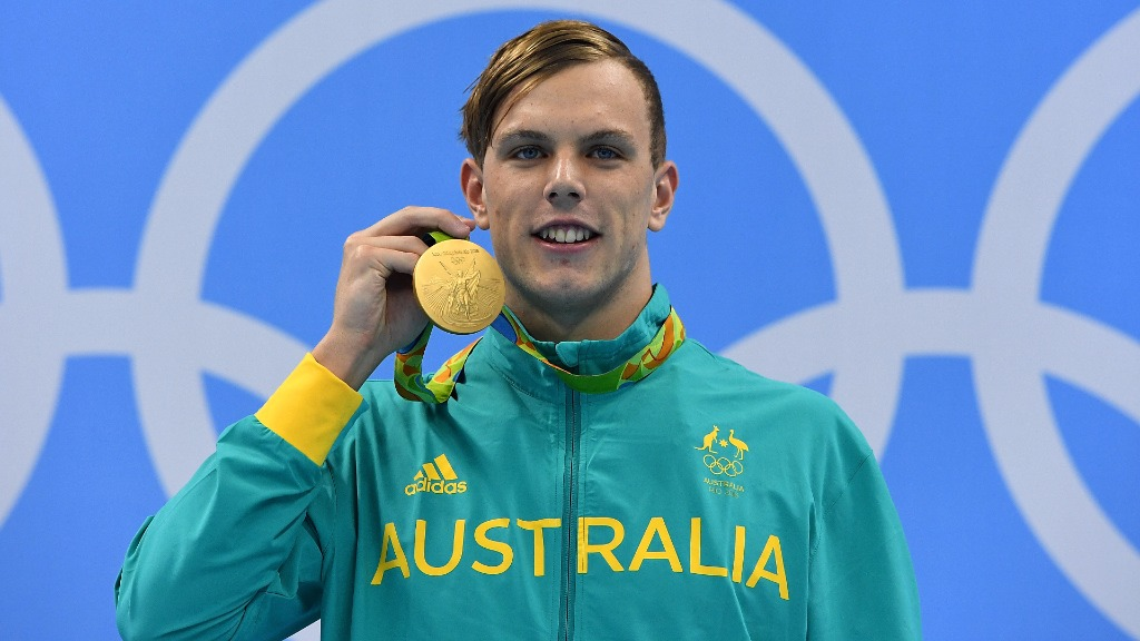 Chalmers claimed gold for the Men's 100 metre freestyle event at the Rio Olympics. (AAP)