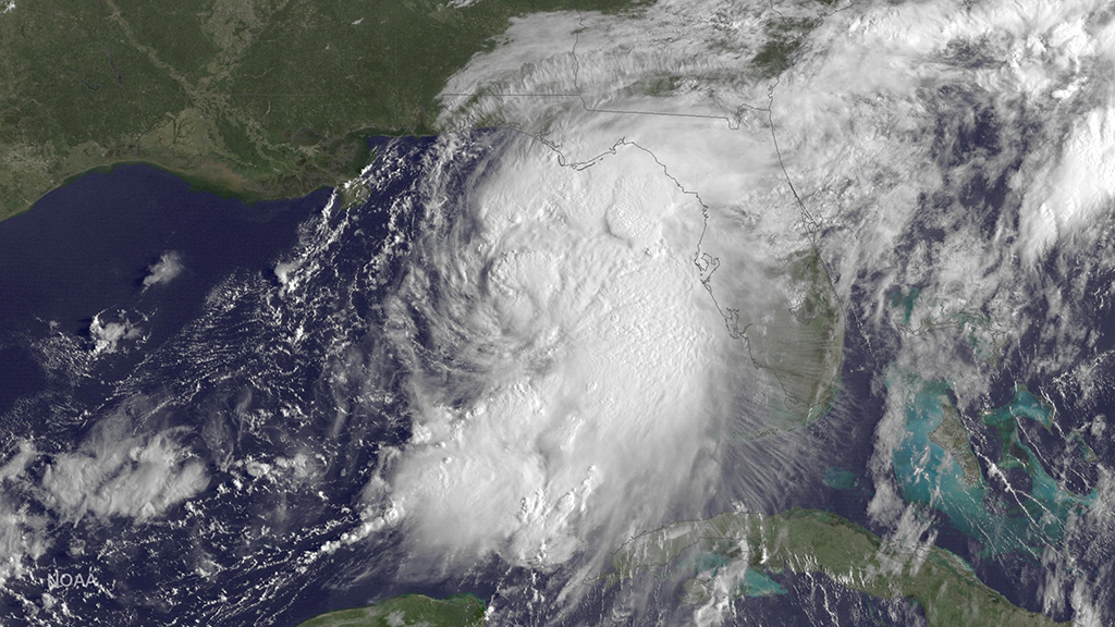 Tropical Storm Hermine strengthened into a hurricane