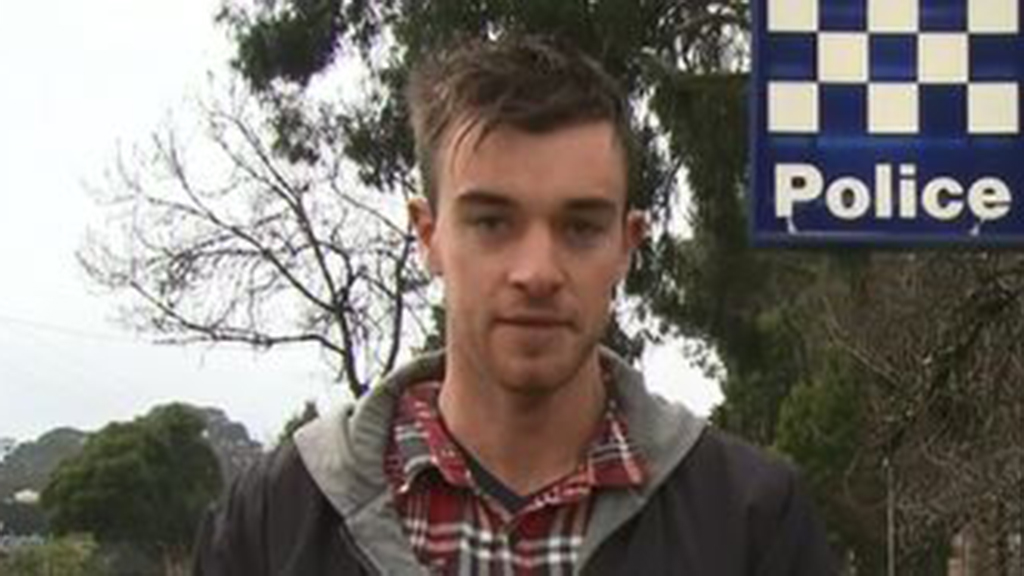 """The couple's son, Mitchell, said his father is """"scared that people are after him"""". (9NEWS)"""