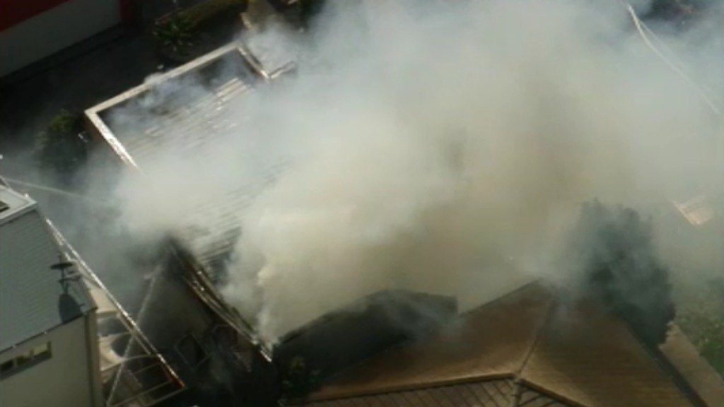 Emergency responded to the blaze just before 11.30am. (9NEWS)