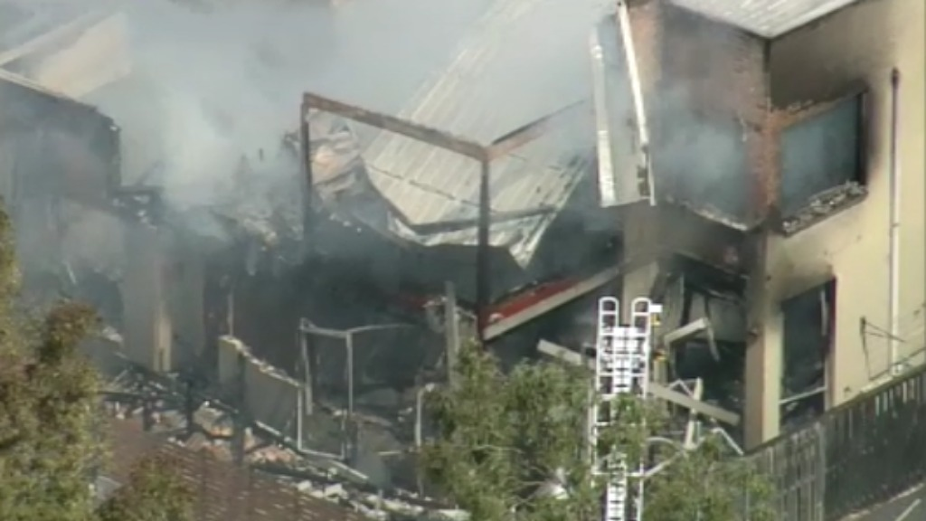 The fire tore through the Pemulwuy home. (9NEWS)