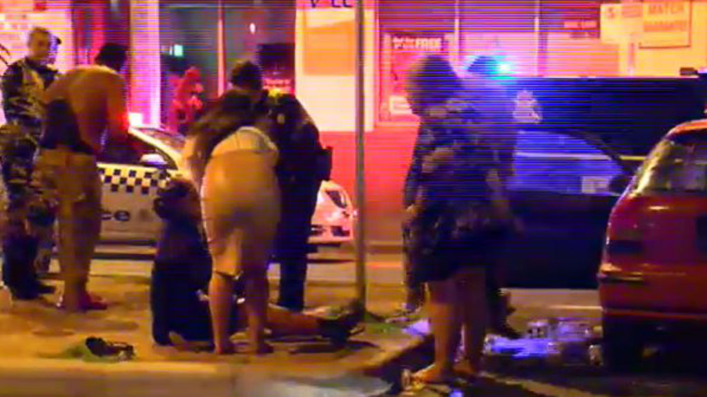 Police are continuing to investigate the cause of the brawl. (9NEWS)