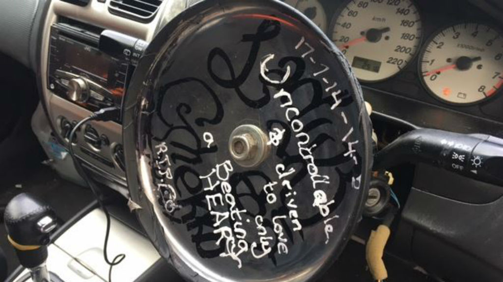 The man was found with a homemade steering wheel in his car. (SA Police)