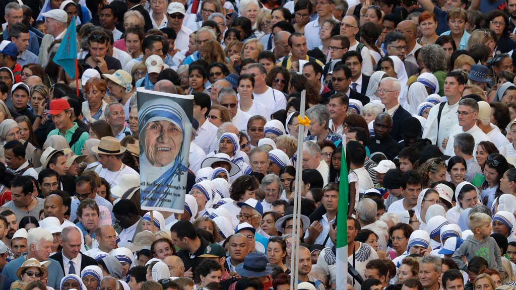 Faithful and pilgrims wait to enter in St. Peter's Square at the Vatican. (AAP)