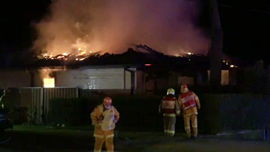 Firefighters at the Glossodia scene. (9NEWS)