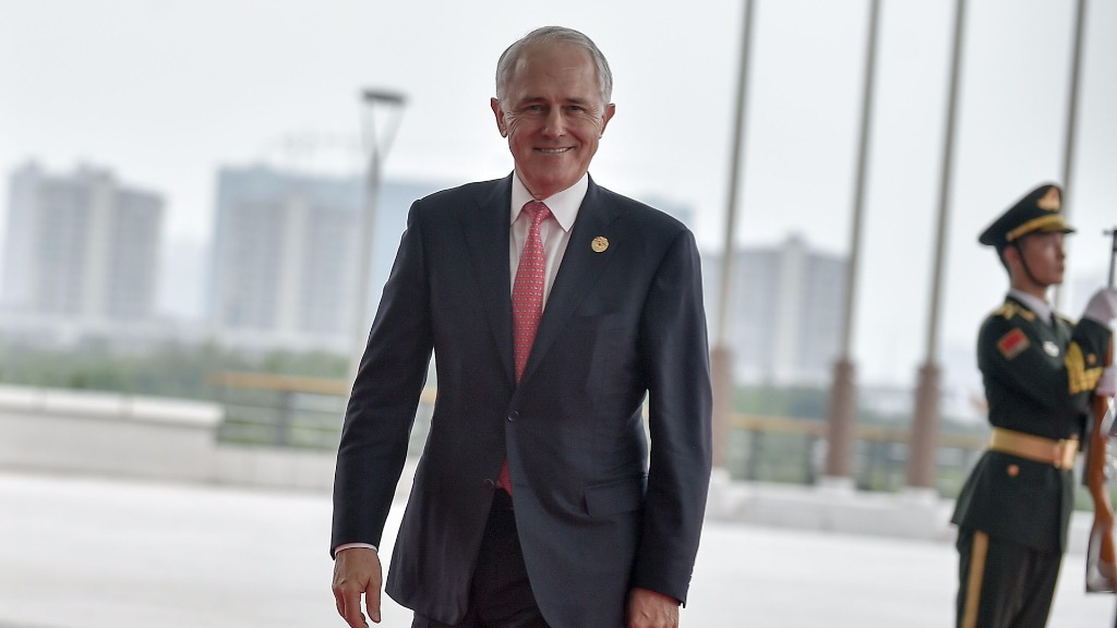 Mr Turnbull discussed foreign investment issues with Mr Xi during a meeting at the G20 Summit. (AFP)