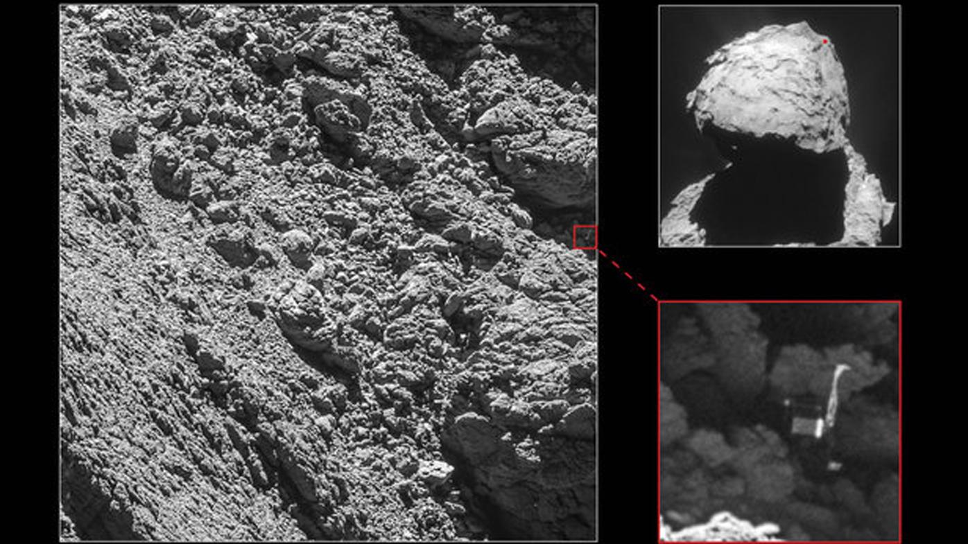 Lost comet lander Philae finally found